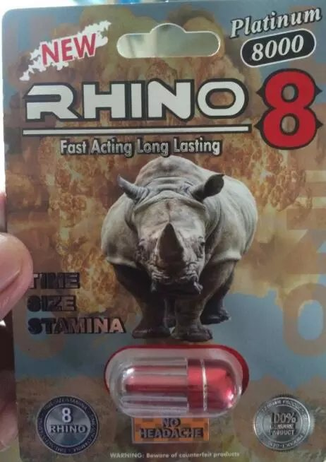Rhino 8 8000 3D Herbal Sex Pills for Men Erection , Male Enhancement Product