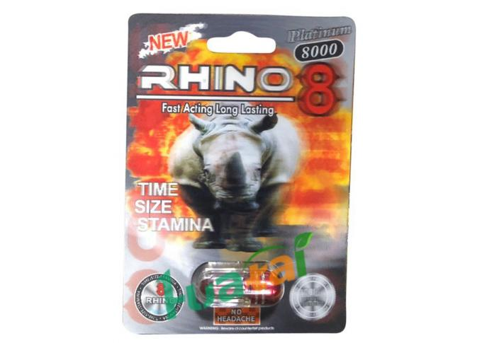 Rhino8  Herbal Male Enhancement 3D Material For Increasing Sex Time