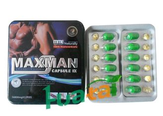 China Security Herbal Maxman IX Capsule , Male Enhancement Maxman Enlargement Pills supplier