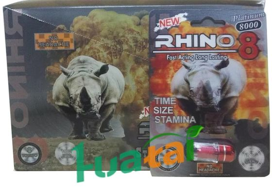 China Rhino 8 8000 3D Herbal Sex Pills for Men Erection , Male Enhancement Product supplier