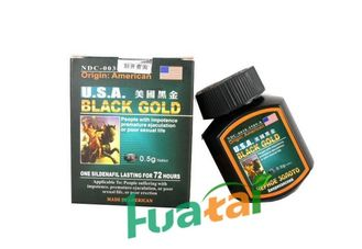 China USA Black Gold Herbal Male Enhancement for Strengthen Body / Consolidate Sperms supplier