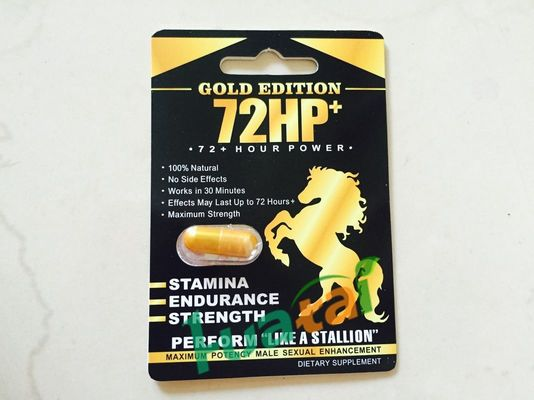 China 72HP Gold Edition Herbal Sex Pills Strong For Man Sexual Medicine 3 years Guarantee period supplier