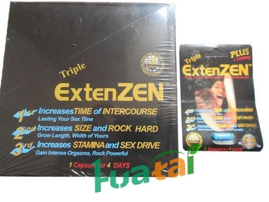 China Sex Timing Capsule , Herbal Sex Male Enhancement Triple Extenzen Pills 24 capsules / box supplier