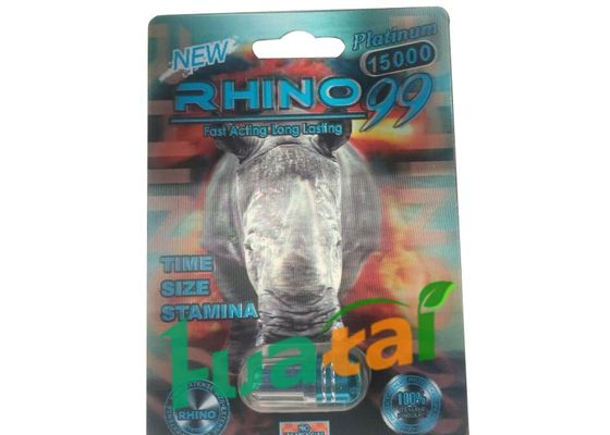 China RHINO 99 15000 Herbal Male Capsules Sexual Stimulant Male Enhancement Pill For Men Erection supplier