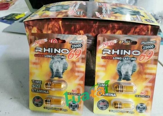 China 3D Version Rhino69 Double Pills Extreme 9000 Male Enhancement Capsules For Longer Harder Penis Enlargement supplier