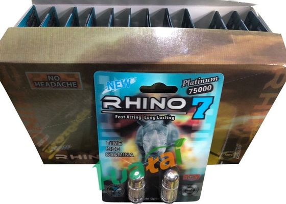 China 3D Material Rhino7 Double Herbal Men Sex Pills For Long Lasting Erections supplier