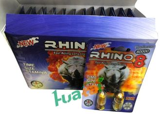 China Rhino8  Herbal Male Enhancement 3D Material For Increasing Sex Time supplier