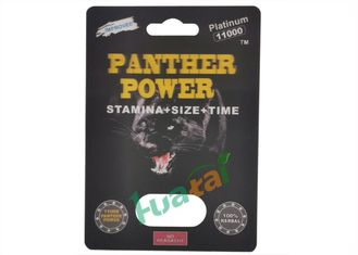 China Panther Power 11000 Herbal Sex Pills Prolongs Performance 24 Capsules / Bottle supplier