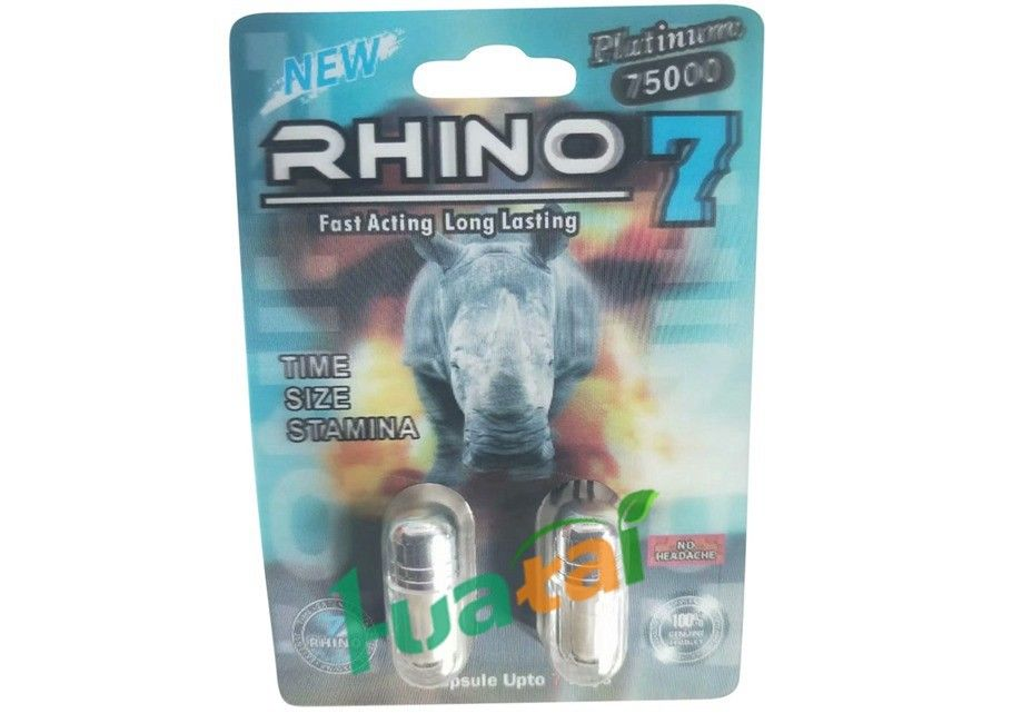 3D Material Rhino7 Double Herbal Men Sex Pills For Long Lasting Erections