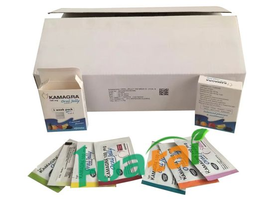 China 7 Assorted Flavours 100mg Kamagra Oral Jelly Male Sexual Enhancer With Sildenafil distributor