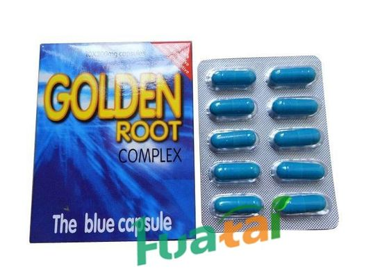 China Herbal Male Effective Golden Root Complex Blue Capsule Powerful Long Lasting Erections distributor