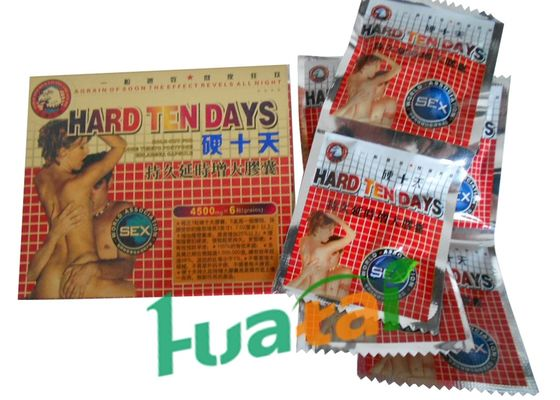 China Hard Ten Days Herbal Male Enhancement Capsules For Adult Healthcare with 4500 mg X 6 Specification distributor